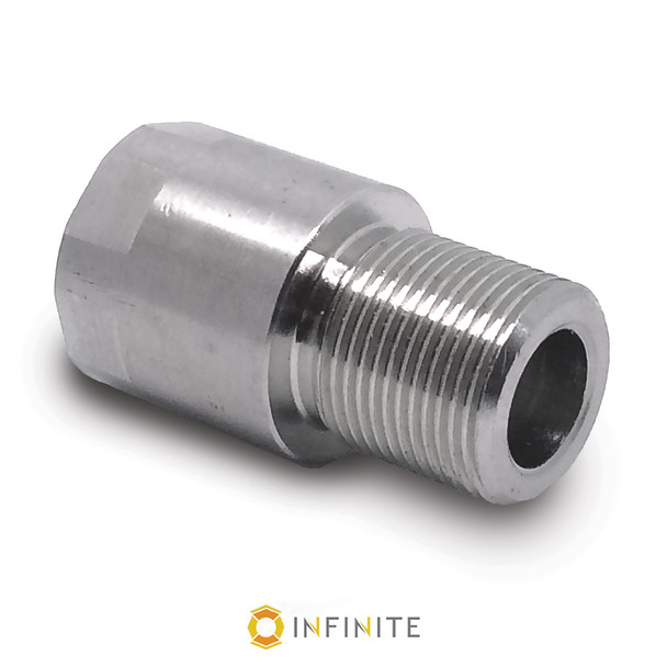 16mm x 1 LH to 578-28 RH Thread Adapter - Stainless Steel