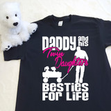 Daddy and His Twin Daughters Besties For Life Adult Shirt