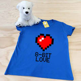 8 Bit Love Ladies Fitted V-Neck Shirt