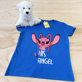 His Angel Ladies Fitted V-Neck Shirt