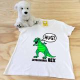 Loveasaurus Rex Ladies Fitted V-Neck Shirt