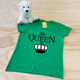 His Queen Ladies Fitted V-Neck Shirt
