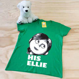 green his ellie ladies fitted v-neck shirt