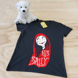 black his sally ladies fitted v-neck shirt