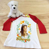 His Buttercup Ladies Slim Fitted Raglan 3/4 Sleeve