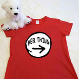 red her thing ladies fitted shirt