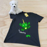 Froggycorn the Frog Ladies Fitted V-Neck Shirt