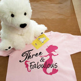 Fabulous Birthday Mermaid Shirt in Baby and Toddler Sizes