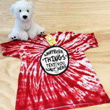 Red and white customizable thing themed tie dye shirt