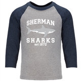 """""""SS 1872"""" 3/4 sleeved raglan shirt - adult and youth sizes"""