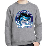 """RSS Sammy Shark"" crewneck sweatshirt - adult and youth sizes"