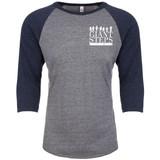Giant Steps - Adult Raglan Baseball Style 3/4 Sleeve Tee Shirt