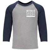 Giant Steps - Youth Raglan Baseball Style 3/4 Sleeve Tee Shirt