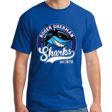 """RSS 1872 Sammy Shark"" crewneck T shirt - adult and youth sizes"
