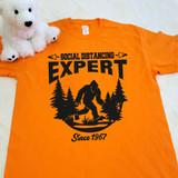 Social Distancing Expert Bigfoot   Shirt in All Sizes
