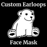 Your Full Color Logo on Non-Medical Grade 100% Cotton 3-Ply Earloops Face Mask