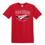 Tomlinson middle school red short sleeve shirt