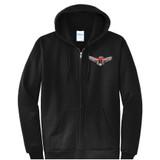Thunderbird - Black Full Zip Hooded Sweatshirt