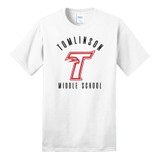 Tomlinson middle school white short sleeve shirt