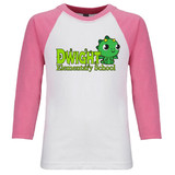 Dwight Kawaii Baby Dragon Raglan Baseball Style 3/4 Sleeve Tee Shirt