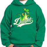 Dwight Script - Pullover Hooded Sweatshirt