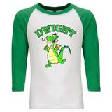 Dwight Mascot - Raglan Baseball Style 3/4 Sleeve Tee Shirt