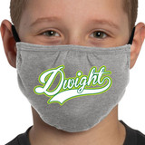 Dwight Script Youth Size Non-Medical Grade Face Mask | with Adjustable Earloops