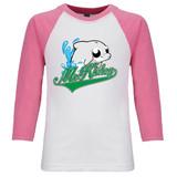 McKinley Dolphin - Raglan Baseball Style 3/4 Sleeve Tee Shirt