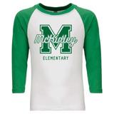 McKinley Varsity - Raglan Baseball Style 3/4 Sleeve Tee Shirt