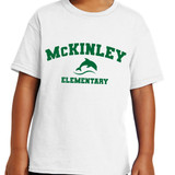 McKinley Dolphin Elementary Short Sleeve T-shirt in Youth and Adult sizes