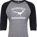 Riverfield Roadrunners Raglan Baseball Style 3/4 Sleeve Tee Shirt