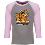 North Stratfield Tiger Raglan Baseball Style 3/4 Sleeve Youth Tee Shirt