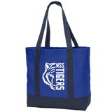North Stratfield Canvas Boat Tote with NSS Tigers design