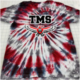 TMS with Thunderbird Hand-made Tie-dyed T-shirt in Youth and Adult Sizes