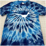 Riverfield Roadrunner Hand-made Tie-dyed T-shirt in Youth and Adult Sizes