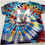 McKinley Varsity Hand-made Rainbow Tie-dyed T-shirt in Youth and Adult Sizes
