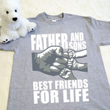 A Father and Sons (3 Fist bumps) Best Friends for Life Youth Shirt