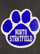 "North Stratfield 6"" x 6"" Paw Print Car Magnet"
