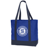 Stratfield Elementary Canvas Boat Tote with Classic Logo