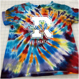 Riverfield Varsity Hand-made Rainbow Tie-dyed T-shirt in Youth and Adult Sizes