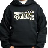 RLMS bulldogs hooded sweatshirt black