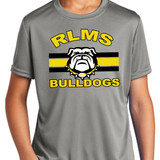 RLMS Striped Bulldogs | Gray Performace T-shirt in Youth and Adult sizes