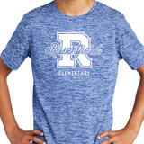 Riverfield Varsity True Royal Electric Heather Short Sleeve Tee in Youth Sizes
