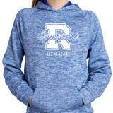 Riverfield Varsity True Royal Electric Heather Hooded Pullover in Youth Sizes