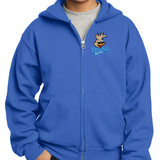 Riverfield Full Color Roadrunner Full-Zip Royal Blue Hooded Sweatshirt in Youth and Adult Sizes