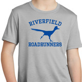 Riverfield Roadrunners Dry Wick Cotton  Short Sleeve Tee in Youth Sizes