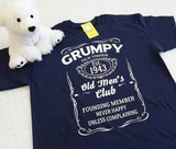 "Grumpy Old Timer Club Established ""Your Year"" Adult Shirt"