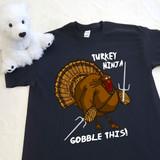 Turkey Ninja Gobble This! Youth Shirt