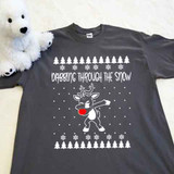 Dabbing Through The Snow Adult Shirt