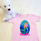 Mermaid Birthday Shirt in Baby and Toddler Sizes